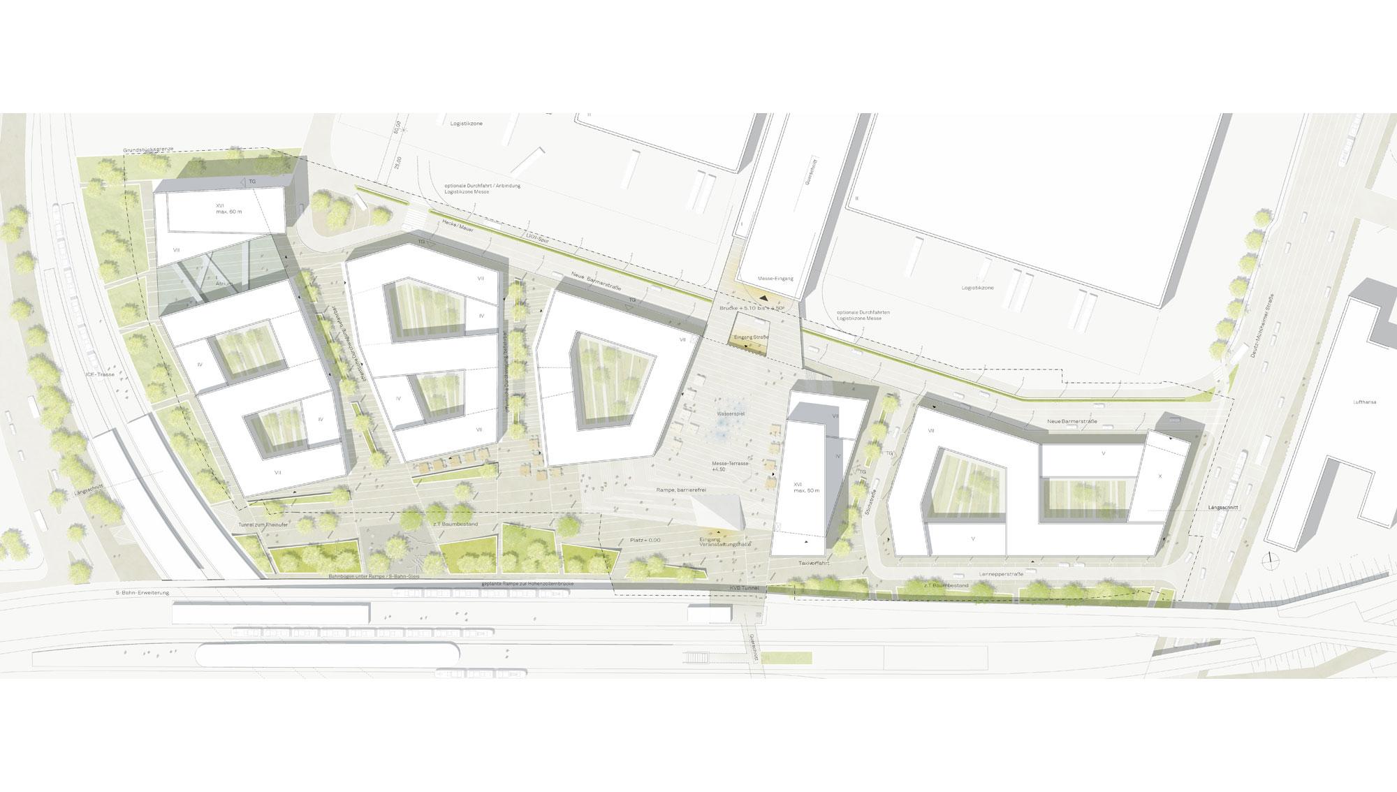 Landschaftsarchitekten Köln rmp stephan lenzen landschaftsarchitekten the messe city cologne